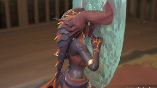 Overwatch: Dragon Symmetra sucks a demon through her teleporter 1080p